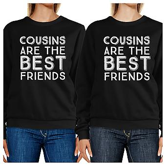 Cousins Are The Best Friends Black Cute Family Matching Sweatshirts