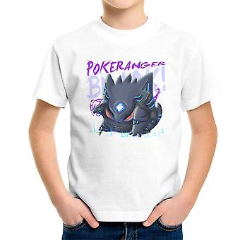 Pokerangers Pokemon Power Rangers Gengar Saban Kid's T-Shirt