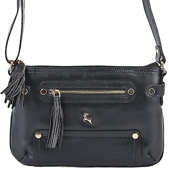 Ashwood læder lille Cross Body taske Si 1331-sort/vt
