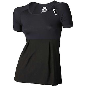 2XU Double couches Womens Compression manches courtes Top Black