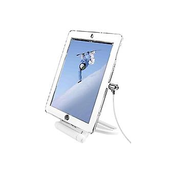 Compulocks iPad Lockable Case Bundle With Security Rotating Stand andwith security cable lock-White-Safety Kit-white-f