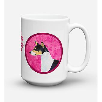 Once de lave-vaisselle sûre pour micro-ondes céramique Coffee Mug 15 Basenji SS4790