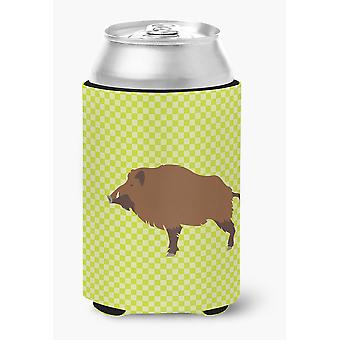 Carolines Treasures  BB7762CC Wild Boar Pig Green Can or Bottle Hugger