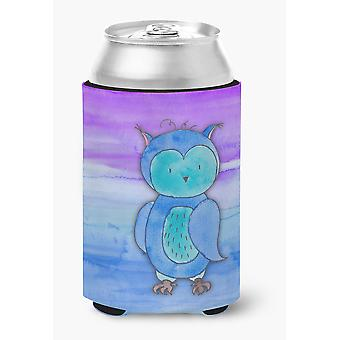 Carolines Treasures  BB7426CC Blue Owl Watercolor Can or Bottle Hugger