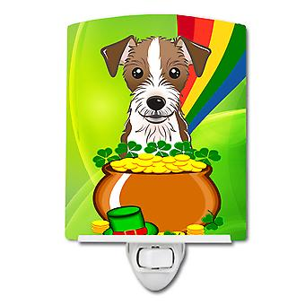 Jack Russell Terrier St. Patrick's Day Ceramic Night Light