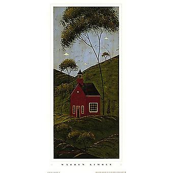 Country Panel IV - Schoolhouse Poster Print by Warren Kimble (11 x 24)
