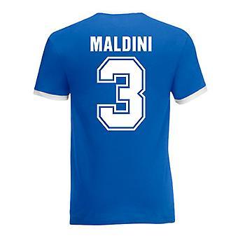 Paolo Maldini Italien Ringer Tee (blau)
