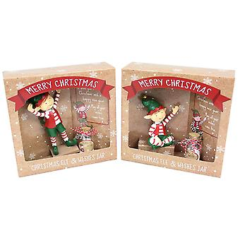 Christmas Elf Xmas Magical Make A Wish Jar