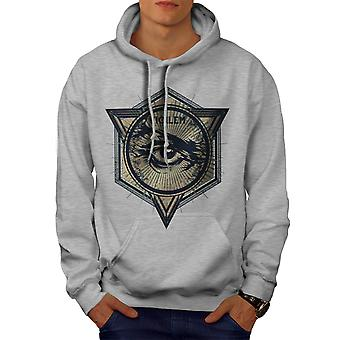 Vintage Triangle Men GreyHoodie | Wellcoda