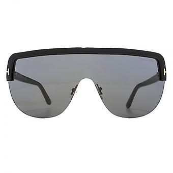 Tom Ford Angus 02 Sunglasses In Shiny Black