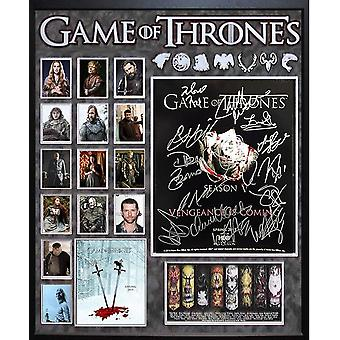 Game of Thrones - undertecknas av Cast - anpassad inramade fotokollage 35 x 30