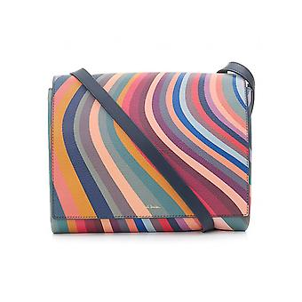 Paul Smith Accessories Swirl Leather Messenger Bag