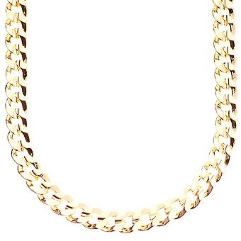 Iced Out Bling Hip Hop PANZERKETTE - CUBAN 8mm gold