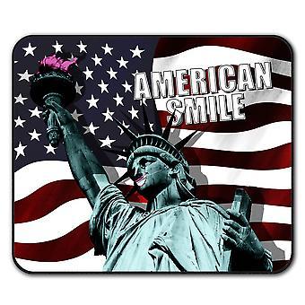 Libertad americana bandera ratón antideslizante alfombra Pad 24 cm x 20 cm | Wellcoda