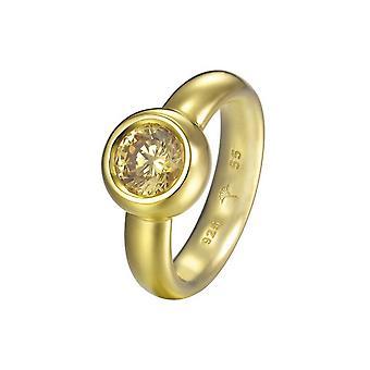 Joop women's ring silver gold cubic zirconia LANA JPRG90736B