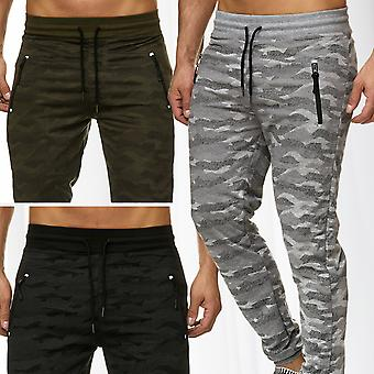 Men's jogging pants sports pants fitness jogging pants mottled sweat pants