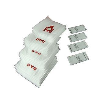 20 X Miele FJM Typ Staubsauger Hoover Staubbeutel & Filter Katze Hund rote Lasche