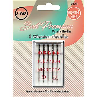 Microtex Needles 5/Pkg-Sizes 60/8, 70/10, 80/12