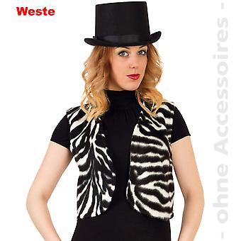 Zebra cavallo selvaggio Africa nera giubbotto bianco Womens costume donne