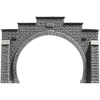 NOCH 58052 PROFI plus H0 Tunnel portal 2-track HR foam prefab, Painted