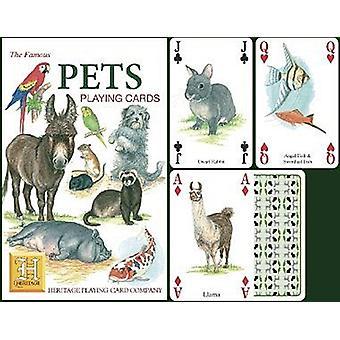الحيوانات الأليفة مجموعة من أوراق اللعب 52 (+ النكاتون)