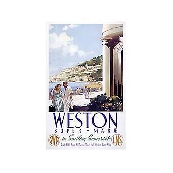 Weston Super Mare (alte Schiene Ad.) Kühlschrank-Magnet