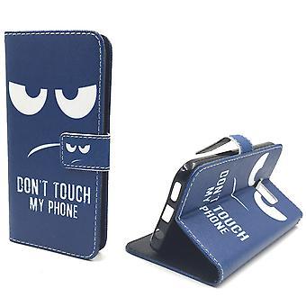 Handyhülle Tasche für Handy Samsung Galaxy S7  Dont Touch my Phone