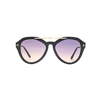 Tom Ford Lisa 02 Sunglasses In Shiny Black