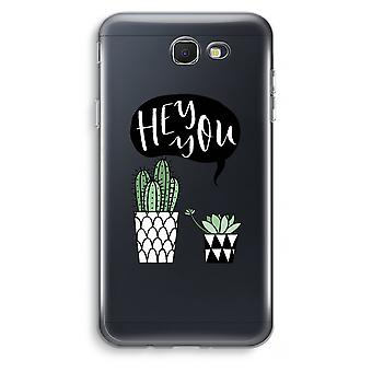 Samsung Galaxy J7 Prime (2017) Transparent Case (Soft) - Hey you cactus