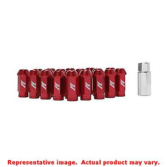 Mishimoto Lug Nuts MMLG-125-LOCKRD Red Fits:UNIVERSAL 0 - 0 NON APPLICATION SPE