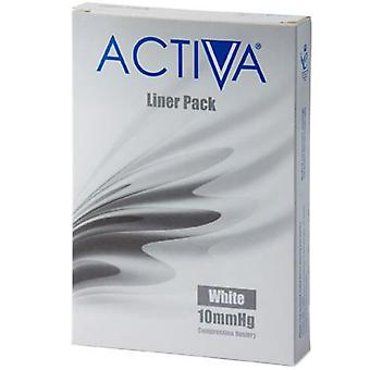 Activa Compression Tights Tights Liners White Med 10Mmhg 3