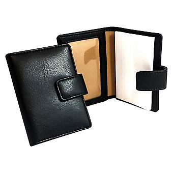 David Van Hagen Notepad with Card Holder - Black