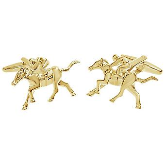 Zennor Horse Jockey Cufflinks - Gold