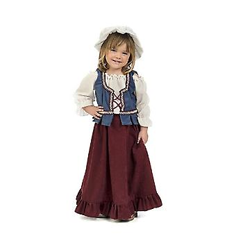 Little hostess child costume peasant maid girls costume