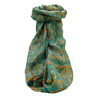 Mulberry Silk Traditional Long Scarf Daman Charcoal by Pashmina & Silk