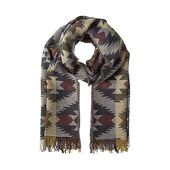 pieces of trendy ladies wool scarf in ethno-look stained