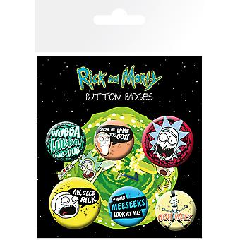 Rick und Morty Mix 1 Abzeichen Packung