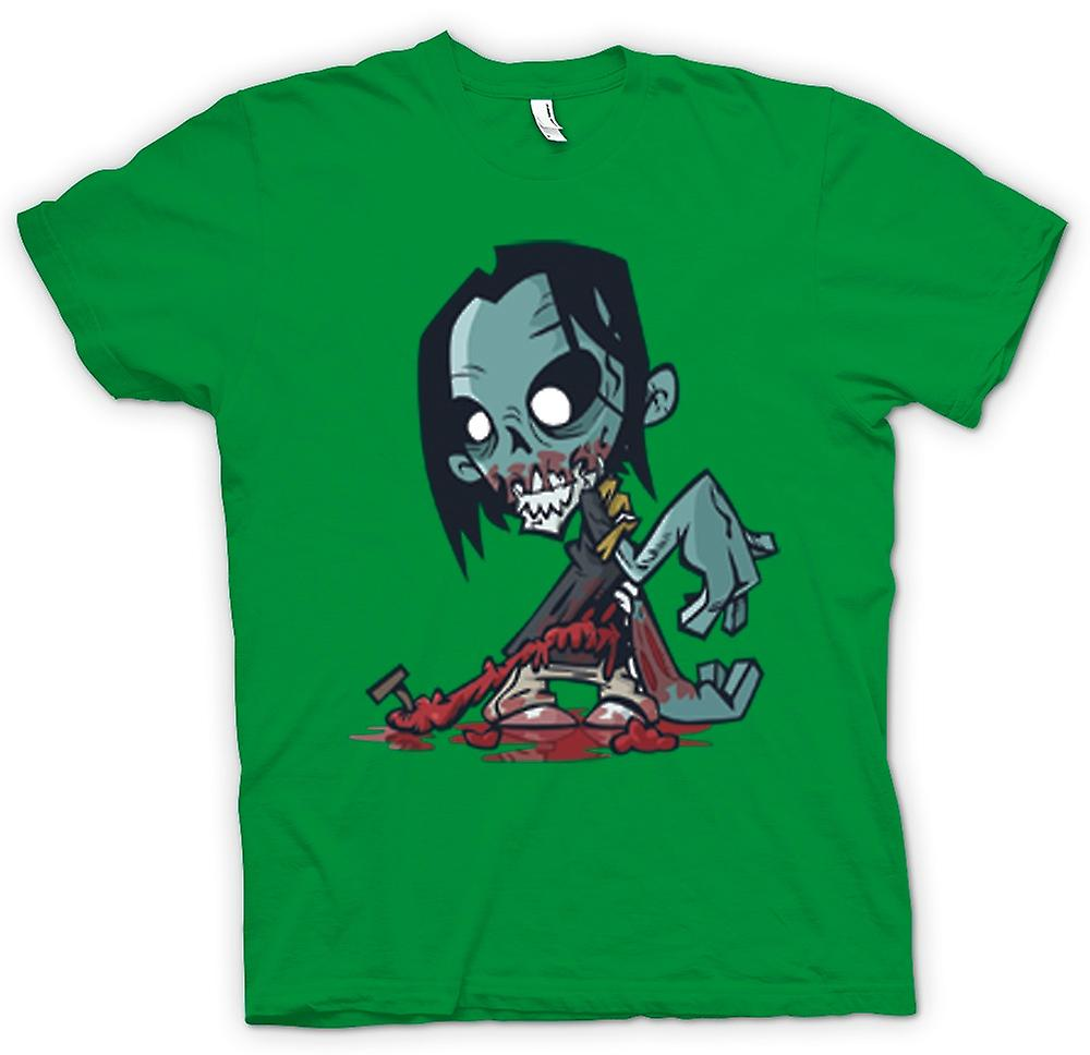 Mens t-shirt-Cartoon Zombie Undead Design