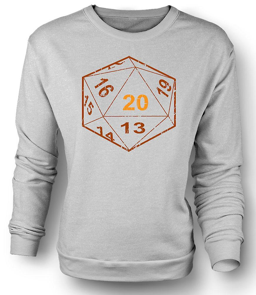 Mens Sweatshirt Dungeons And Dragons D20 Dice - Gamer