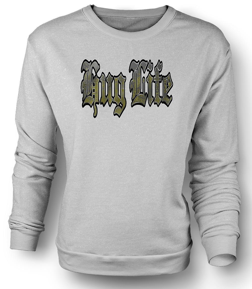 Mens Sweatshirt klem livet - Gangster - Funny
