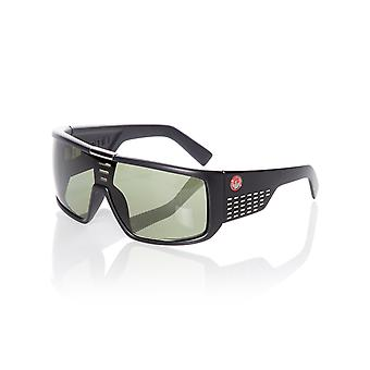 Dragon Matte Black-Green G15 Domo Sunglasses