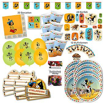 Yakari Indian party set XL 112-teilig 6 guests Yakariparty kids birthday party package