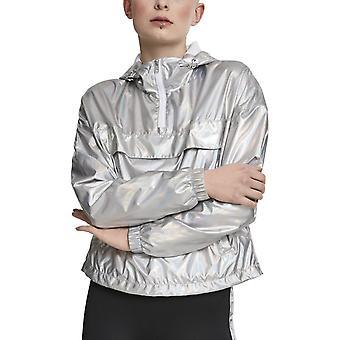 Stedelijke klassiekers dames - OVER holografische trekken jas zilver