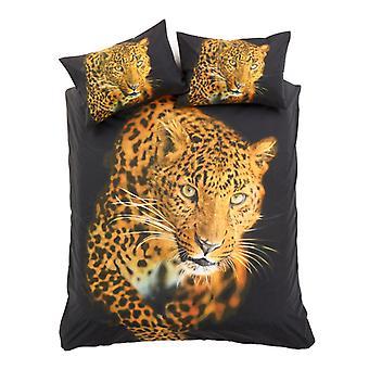 3D Leopard Animal Duvet Quilt Cover Cotton Rich Bedding Set Pillow Case