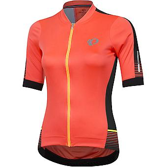 Pearl Izumi Fiery Coral Diffuse Elite Pursuit Speed Womens Short Sleeved Cycling