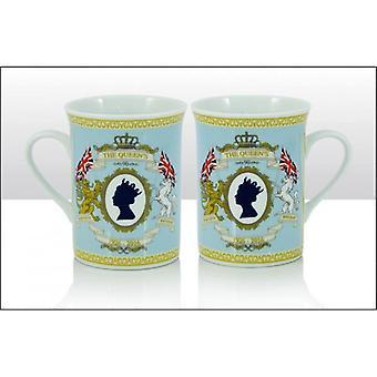 Union Jack porter son Altesse Royale la Queens 90e collectionneurs Mug