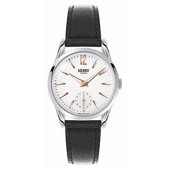 Henry London Highgate Black Leather Strap White Dial HL30-US-0001 Watch