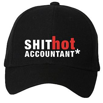 Sh*t Hot Accountant Black Baseball Cap