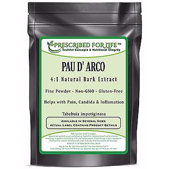 Pau D' Arco - 4:1 Natural Bark Extract Powder (Tabebuia impetiginosa)