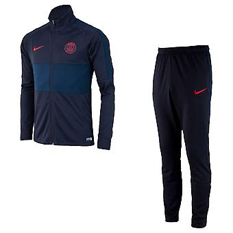 2019-2020 PSG Nike Knit Tracksuit (Oil Grey) - Kids